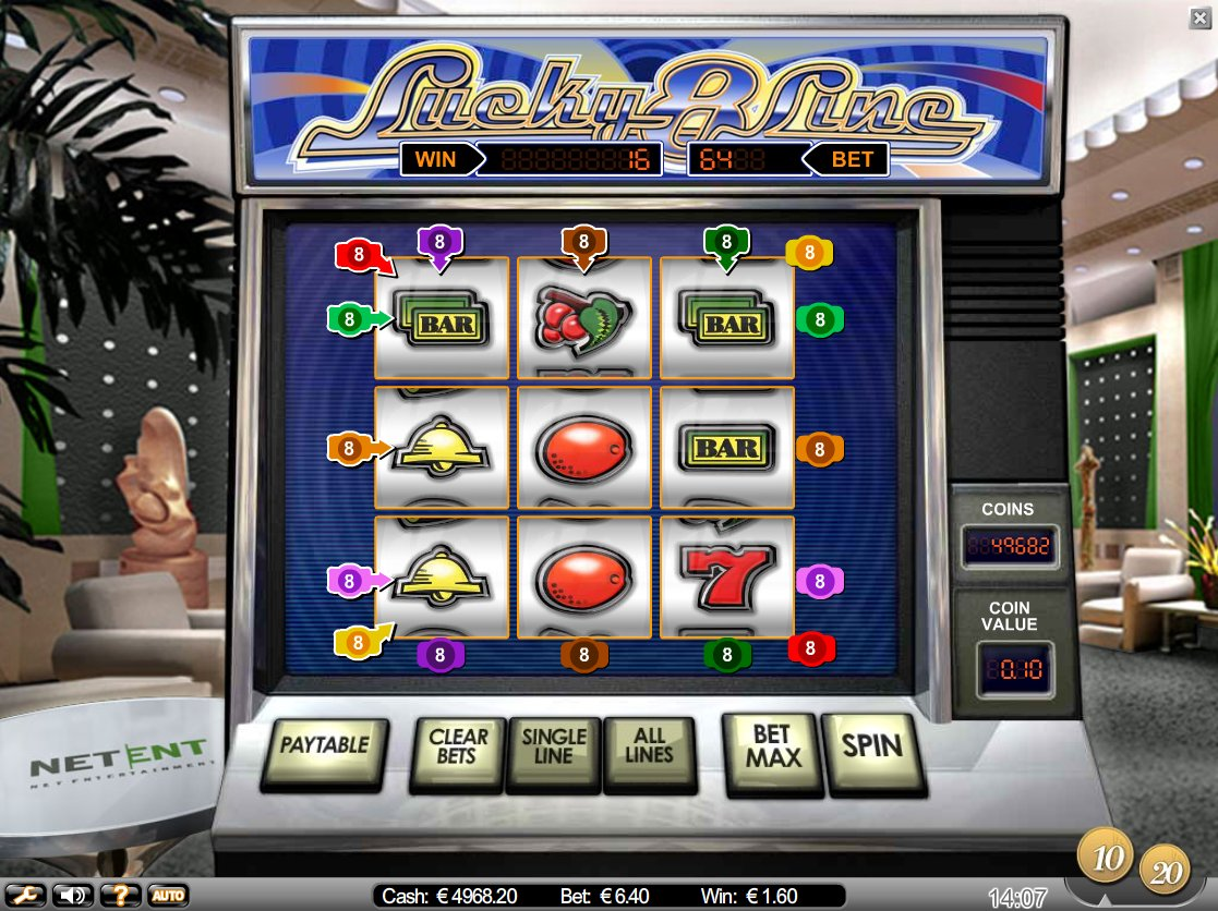 Lucky 8 Line™ Slot Machine Game to Play Free in NetEnts Online Casinos