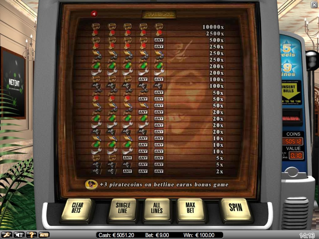 Pirates Gold™ Slot Machine Game to Play Free in NetEnts Online Casinos