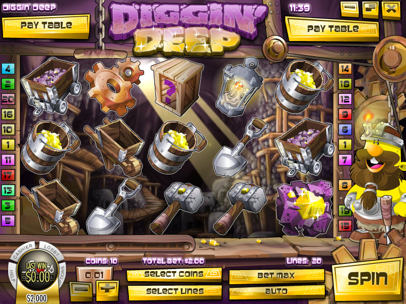 Diggin Deep™ Slot Machine Game to Play Free in Rivals Online Casinos